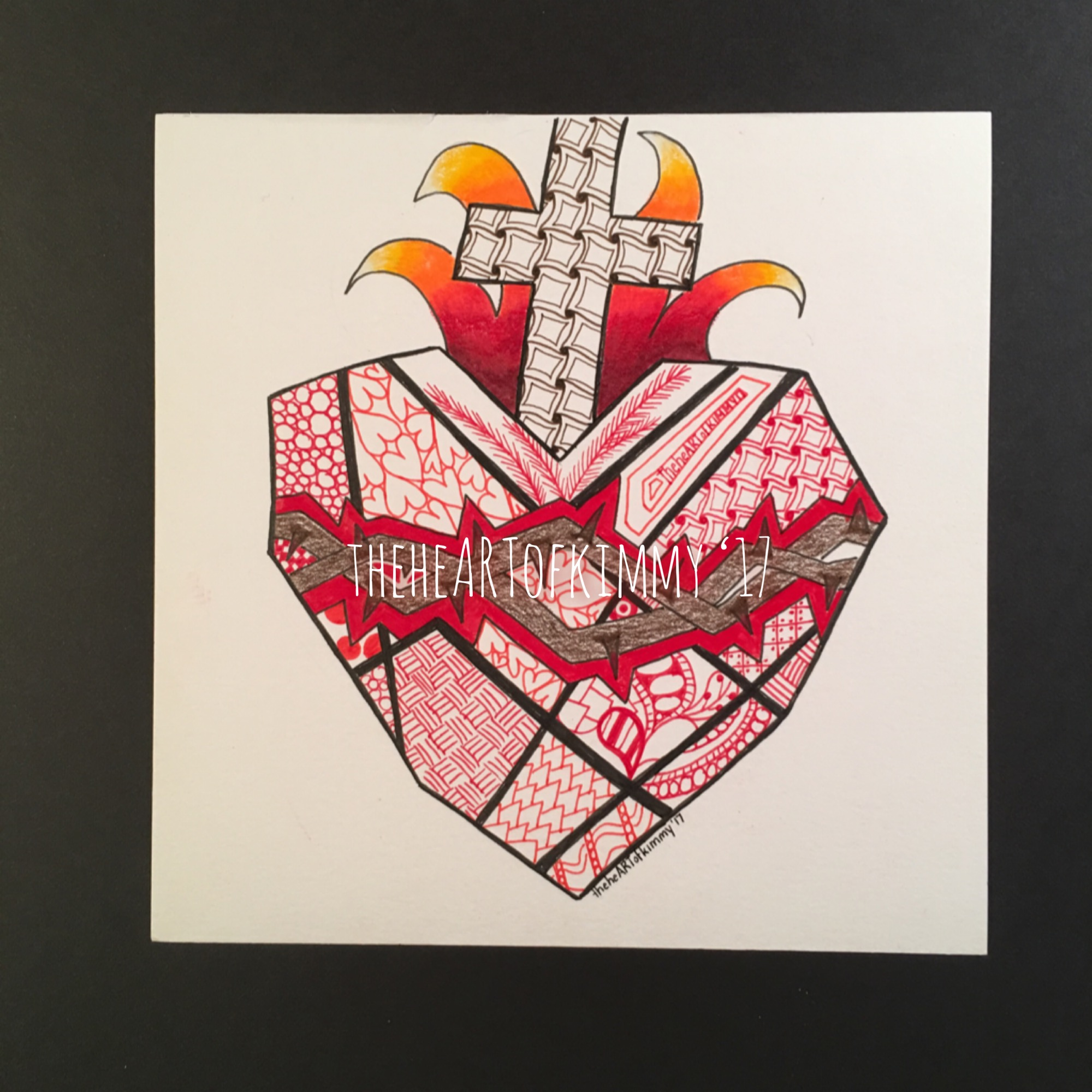 SacredHeartZentangle